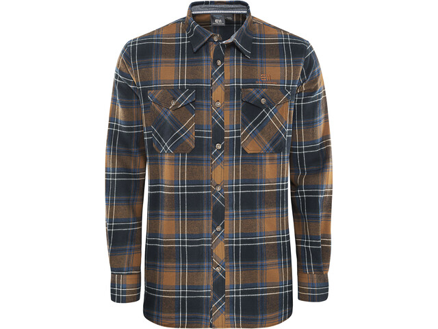 Elevenate M's Cham Shirt Pecan Brown